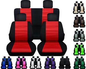 Front And Rear Car Seat Covers Fits Jeep Wrangler Jk 2007 2017 Black charcoal