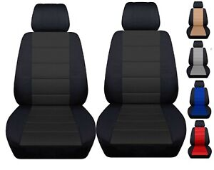 Front Set Car Seat Covers Fits Jeep Wrangler Jk 2007 2017 Black And Charcoal