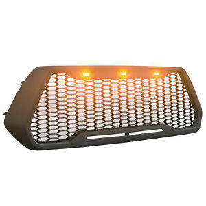 Raptor Style Mesh Grille For 2016 2019 Tacoma With 3 Amber Led Lights Us Stock