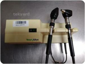 Welch Allyn 767 Series Wall Transformer Otoscope Ophthalmoscope W Heads 24007