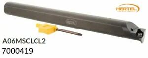 Hertel A06msclcl2 3 8 Shank Left Hand Indexable Boring Bar 7000419 New