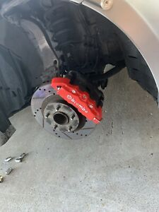 Nissan 350z 4x Brake Caliper Brembo Cover 3d Red Style Front Rear