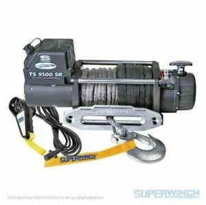 Superwinch 9500 Lbs 12 Vdc 3 8in X 80ft Synthetic Rope Tiger Shark 9500 Winch