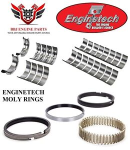 Chevy Gm Geniii 5 7 5 7l Ls1 Enginetech Piston Rings With Rod And Main Bearings