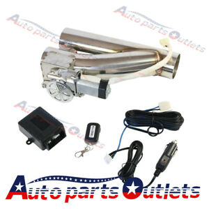 New 3 Electric Exhaust Downpipe E Cut Out Valve Controller Remote Kit