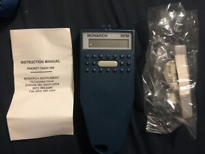 Monarch Digital Tachometer Rpm Pocket tach 100
