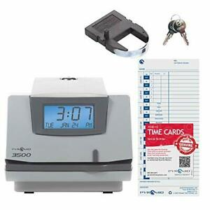 Pyramid Punch Card Time Clock System Light Gray charcoal 3500 430286