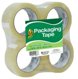 4 Count 1 88 X 100 Yard Duck Clear Packing Tape