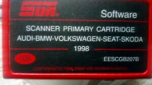 1998 Snap On Mt2500 Scanner Vw Audi Seat Skoda Cartridge Eescgb207b