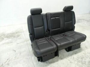 2007 2014 Tahoe Yukon Escalade Second Row Seat Bench Seat Black Leather 517642