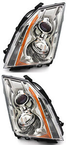 For 2008 2014 Cadillac Cts Wagon Cts V Headlights Pair Set