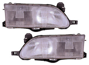 For 1993 1994 1995 1996 1997 Toyota Corolla Headlights Pair Set