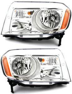 For 2012 2013 2014 2015 Honda Pilot Headlights Pair Set