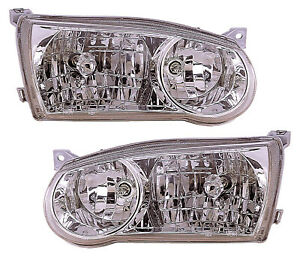 For 2001 2002 Toyota Corolla Headlights Pair Set