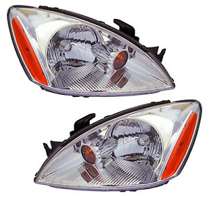 For 2004 2005 2006 2007 Mitsubishi Lancer Headlights Pair Set