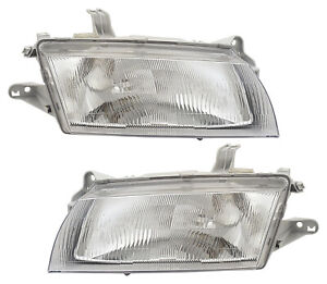 For 1997 1998 Mazda 323 Protege Headlights Pair Set