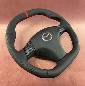 Reshaped Steering Wheel Mazda Mazdaspeed 6 Mps Flat Top An Bottom Racing Stripe