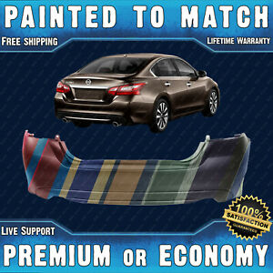 New Painted To Match Rear Bumper Replacement For 2016 2017 2018 Nissan Altima