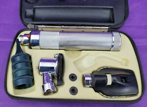 Welch Allyn 20200 Pneumatic Otoscope Ophthalmoscop Diagnostic Set Veterinarian