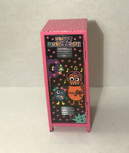Metal Locker Desk Organizer Toy Happy Monsters Used 10 75 X4 x 4 5