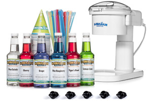 Hawaiian Shaved Ice Snow Cone Machine 6 Flavor Kit
