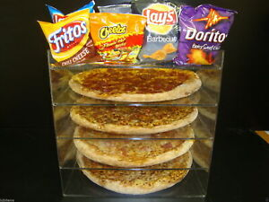 305displays 14 Pizza Showcase Retail Store Acrylic Display Cases
