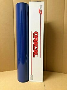 Oracal 651 1 Roll 24 X 10yd 30ft Dark Blue 050 Gloss Sign Vinyl