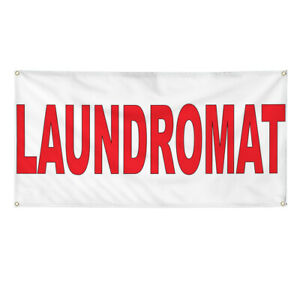 Vinyl Banner Multiple Options Laundromat Red Business Laundromats Outdoor