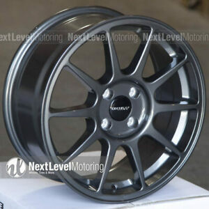 1 Circuit Cp23 16x7 4 100 35 Gloss Gun Metal Wheels Type R Fits Acura Integra