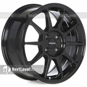 1 Circuit Cp23 16x7 4 100 35 Gloss Black Wheels Type R Style Fits Acura Integra