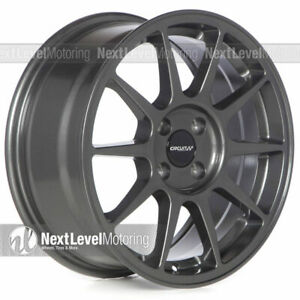 Circuit Cp23 16x7 4 100 35 Gloss Gun Metal Wheels Type R Style Fits Honda Civic