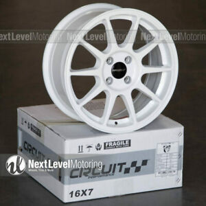Circuit Cp23 16x7 4 100 35 Gloss White Wheels Type R Style Fits Honda Civic Jdm