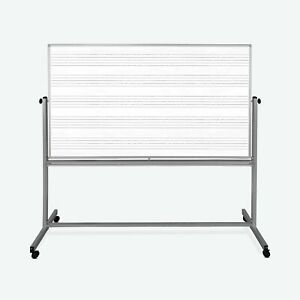 Luxor 72 X 48 Double Sided Mobile Music Whiteboard whiteboard