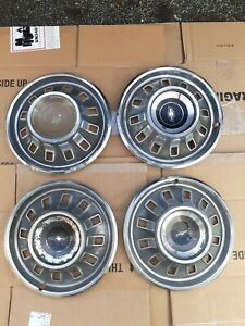4 Vintage 1967 Chevy Impala caprice Hubcaps Wheel Covers