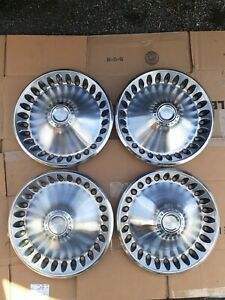 4 Vintage 1973 74 Plymouth Motor Division 14 Hubcaps Wheel Covers