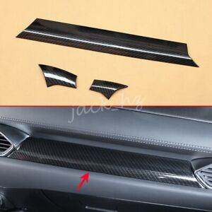 Lhd Carbon Fiber Interior Dashboard Cover Strip Trim For Mazda Cx 5 Kf 2017 2021