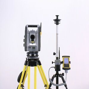 Trimble Rts633 3 2 Robotic Total Station Kit W Nomad Data Collector