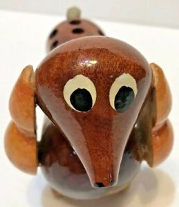 Dachshund Pencil Pen Holder Decorative Collectible Wood Wooden From Guatemala