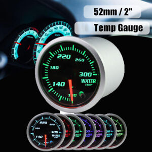 2 1 16 Led Water Temp Meter Kit 100 300 F Gauge W 7 Color Led Display