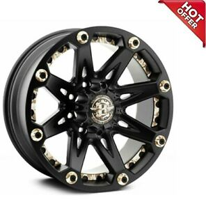 18x9 Ballistic Off Road Wheels 814 Jester Flat Black Rims s02