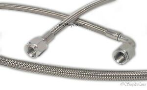 Turbo Oil Feed Line 40 Steel Braided 4 4an 90 Degree X Straight Ptfe Line Usa