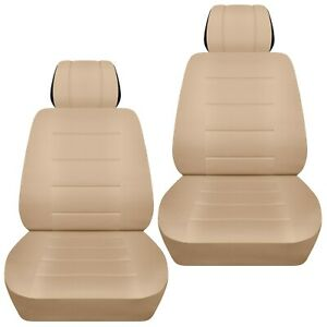 Front Set Car Seat Covers Fits Ford Edge 2007 2020 Solid Sand