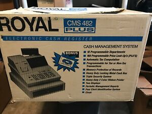 Royal Cms482 Plus Electronic Cash Register W Manual Nos Tested Works