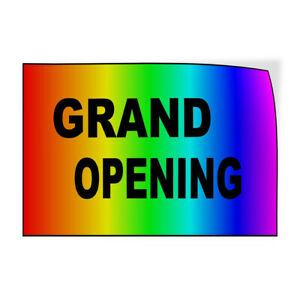 Decal Stickers Grand Opening Rainbow New Business Vinyl Store Sign Label