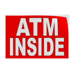 Decal Stickers Atm Inside Vinyl Store Sign Label Business