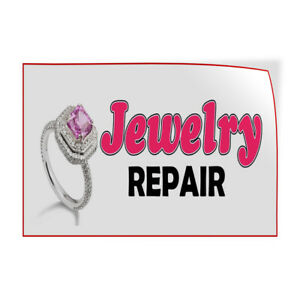 Decal Stickers Jewelry Repair Vinyl Store Sign Label Business