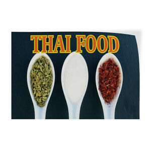 Decal Stickers Thai Food Outdoor Advertising Printing Vinyl Store Sign Label