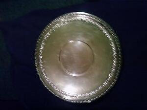 Antique Silver Plated Serving Charger