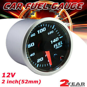 2 52mm 7 Color Car Digital Led Display Psi Fuel Pressure Gauge Meter Sensor