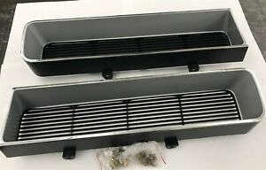 1965 Pontiac Gto Pair Front Grilles Plastic New Reproduction